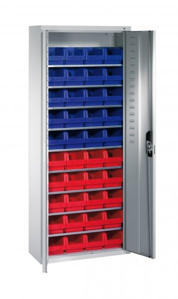 Shelf cabinet with display storage boxes Typ S1