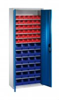 Shelf cabinet with display storage boxes Typ S2