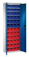 Shelf cabinet with display storage boxes Typ S6
