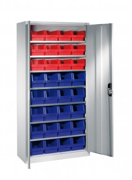 Shelf cabinet with display storage boxes Typ S7