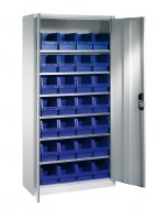 Shelf cabinet with display storage boxes Typ S8