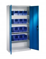Shelf cabinet with display storage boxes Typ S10