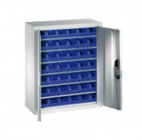 Shelf cabinet with display storage boxes Typ 12