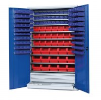 Shelf cabinet with display storage boxes Typ S 2000