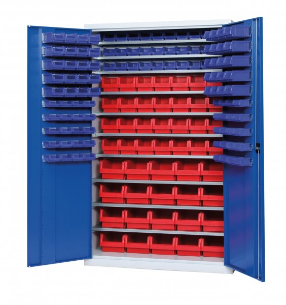 Shelf cabinet with display storage boxes Typ S 2001