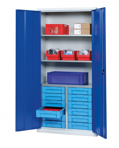 Shelf cabinet with display storage boxes Typ S 2004