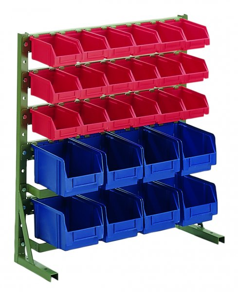 H1 RAL 6011 Reseda green With open fronted storage bins