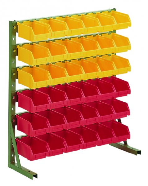 H2 RAL 6011 Reseda green With open fronted storage bins