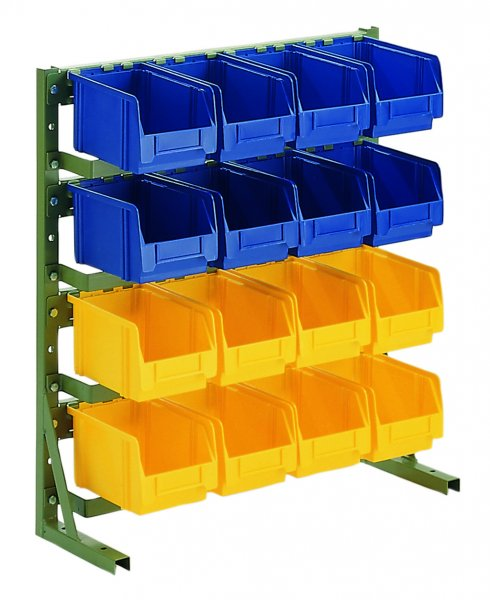 H3 RAL 6011 Reseda green With open fronted storage bins